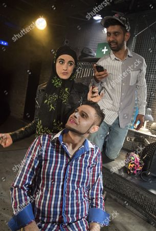 Mitesh Soni as Faisal, Rez Kempton as Ali, Shireen Farkhoy as Samina