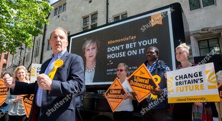 Editorial image of Simon Hughes poster launch, London, UK- 3 June 2017
