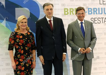 Filip Vujanovic, Kolinda Grabar Kitarovic and Borut Pahor