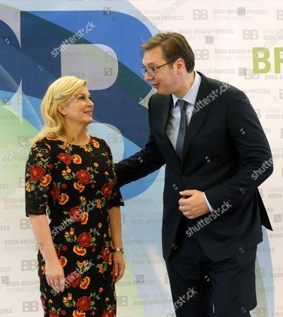 Filip Vujanovic and Kolinda Grabar Kitarovic
