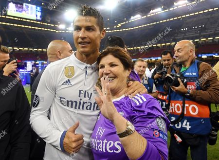 Stock Photo of Cristiano Ronaldo and Maria Dolores dos Santos Aveiro