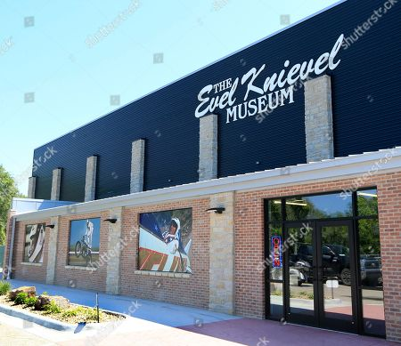 Double doors lead to the entrance of the new Evel Knievel Museum in Topeka, Kan., . A new Kansas museum is giving enthusiasts of late motorcycle daredevil Evel Knievel a jump on appreciating his death-defying, bone-breaking exploits. The $5-million, 13,000-square-foot homage to the man famous for rocket-powered and motorbike stunts before his 2007 death has opened in Topeka