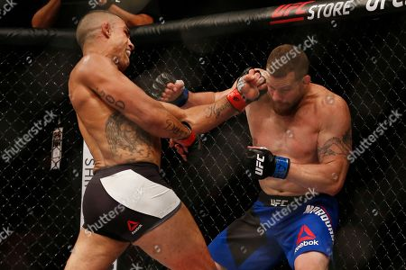 Vitor Belfort, Nate Marquardt Vitor Belfort, left, of Brazil, fights Nate Marquardt, of the United States, during a UFC middleweight mixed martial arts bout in Rio de Janeiro, Brazil, early
