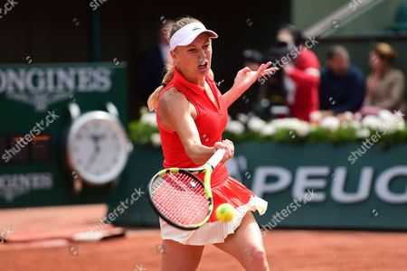 Caroline Wozniacki (DEN) during the fourth round of the Roland Garros Tennis Open 2017 at Roland Garros Stadium, Paris
