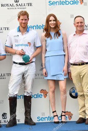 Prince Harry, Karen Gillan, John Key