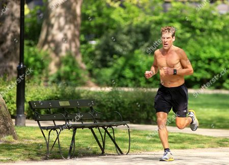 Stock Image of Author and Ultramarathon runner Dean Karnazes in Russell Square