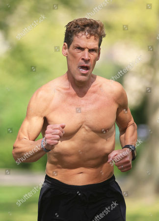 Stock Picture of Author and Ultramarathon runner Dean Karnazes in Russell Square