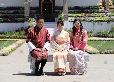 Bhutan Princess Mako's with Majesty King Jigme Khesar Namgyel Wangchuck and Majesty Queen Jetsun Pema Wangchuck