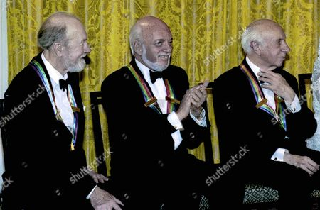 Pete Seeger, Harold Prince, Morton Gould in the East Room of the White House.