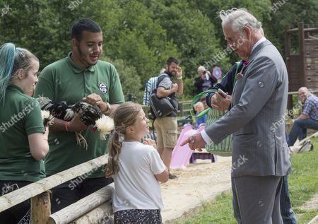 Prince Charles, Patron, The Rare Breeds Survival Trust, visited Jimmy's Farm and met the trust's new President, Jimmy Doherty, and learned about the farm's education and rare breeds programme