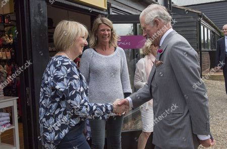 Stock Photo of Prince Charles, Patron, The Rare Breeds Survival Trust, visited Jimmy's Farm and met the trust's new President, Jimmy Doherty, and learned about the farm's education and rare breeds programme