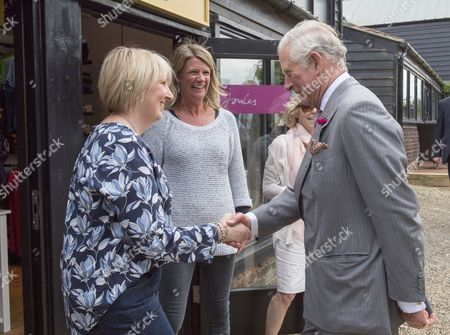 Stock Picture of Prince Charles, Patron, The Rare Breeds Survival Trust, visited Jimmy's Farm and met the trust's new President, Jimmy Doherty, and learned about the farm's education and rare breeds programme