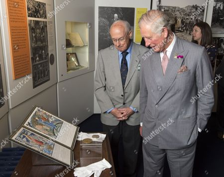 Prince Charles as President of The National Trust on a visit to Chartwell House, former country home of Sir Winston Churchill, which has undergone restoration. Sir Winston Churchills Nobel Peace prize award