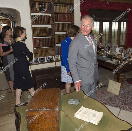 Prince Charles as President of The National Trust on a visit to Chartwell House, former country home of Sir Winston Churchill, which has undergone restoration