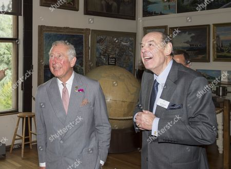 Prince Charles as President of The National Trust on a visit to Chartwell House, former country home of Sir Winston Churchill, which has undergone restoration. inside Sir Winston Churchills art studio with Sir Nicholas Soames