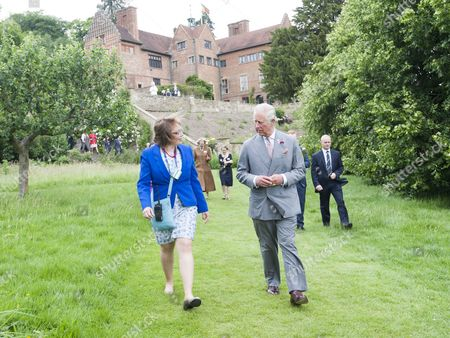 Stock Image of Prince Charles as President of The National Trust on a visit to Chartwell House, former country home of Sir Winston Churchill, which has undergone restoration