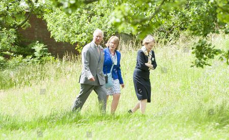 Stock Picture of Prince Charles as President of The National Trust on a visit to Chartwell House, former country home of Sir Winston Churchill, which has undergone restoration