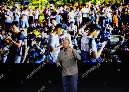 Philip W Schiller, Apple's senior vice president of worldwide marketing, speaks during an announcement of new products at the Apple Worldwide Developers Conference in San Jose, Calif