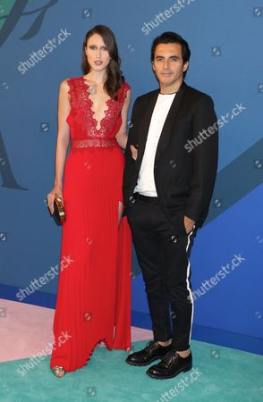 Anna Cleveland and Yigal Azrouel