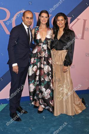 Sachin Ahluwalia, Brooke Shields and Babi Ahluwalia