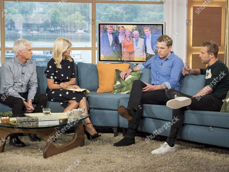 Phillip Schofield and Holly Willoughby with Wilfred Frost and George Frost