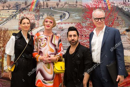 Yana Peel, Grayson Perry, Johnny Coca and Hans-Ulrich Obrist