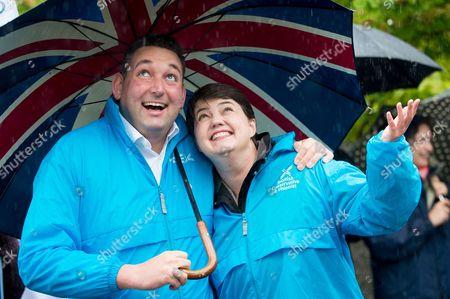 Ruth Davidson and Miles Briggs in Colinton
