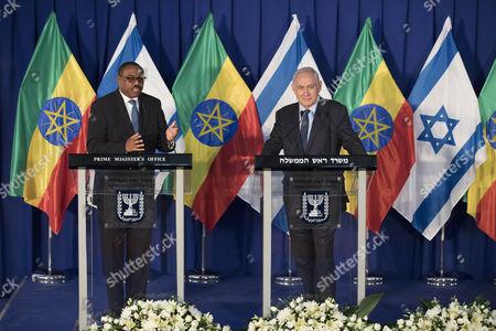 Hailemariam Desalegn and Benjamin Netanyahu
