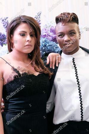 Stock Image of Marlen Esparza with her girlfriend, Nicola Adams