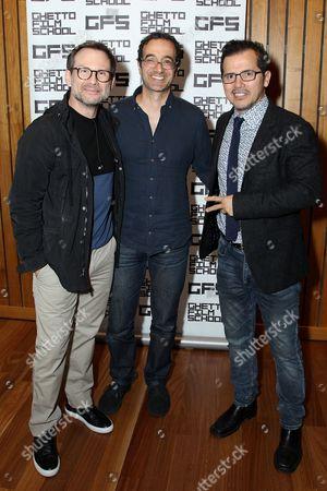 Stock Picture of Christian Slater, Jad Abumrad, John Leguizamo