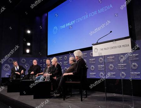 Stock Photo of Ron Simon, Allan Kozinn, Kenny Loggins, Michelle Phillips, D.A. Pennebaker, Graham Nash