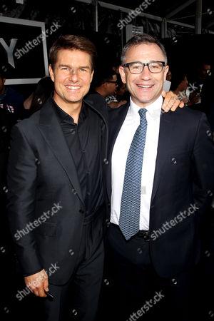 Stock Image of Tom Cruise, Josh Goldstine (Pres. Worldwide Marketing Universal Pictures)