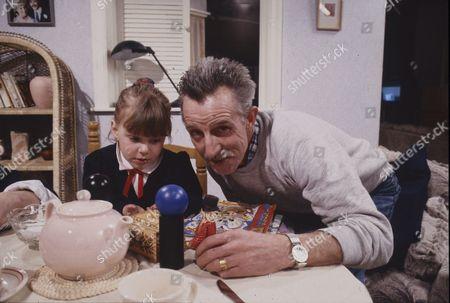 Lynsay King (as Sarah Tilsley) with father.