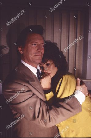 Johnny Briggs (as Mike Baldwin) and Shirin Taylor (as Jackie Ingram)