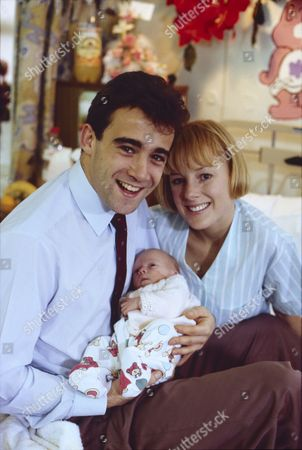 Michael Le Vell (as Kevin Webster), Emma Collinge (as Rosie Webster) and Sally Dynevor (as Sally Webster)