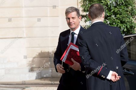 French General Secretary for Defence and National Security Louis Gautier arrives at Defense council at the Elysee Palace