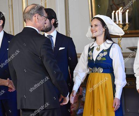 Ingemar Eliasson, princess Sofia, National Day reception, Royal Palace, Stockholm