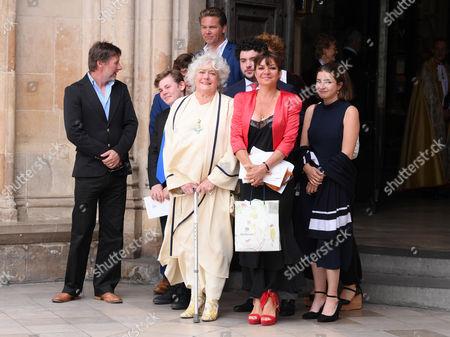 Anne Hart (Ronnie Corbett's widow wearing his CBE) and family
