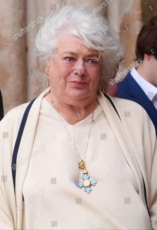 Anne Hart (Ronnie Corbett's widow wearing his CBE)
