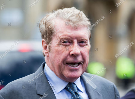 Michael Crawford arriving for the memorial service