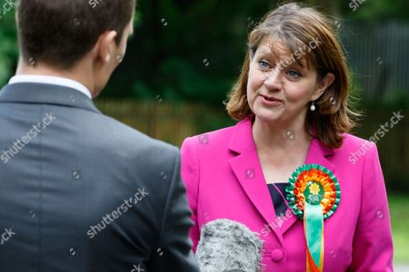 Stock Picture of Plaid Cymru leader Leanne Wood holds a campaign rally in Treorchy, on the final day of the General Election campaign ahead of polls opening tomorrow (8th July 2017)