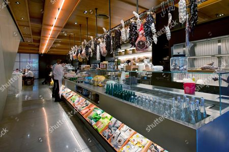 This photo shows food items are for sale in the Louis section of the lobby at the PUBLIC hotel, in New York. The new hotel on Manhattan's Lower East Side opens Wednesday, June 7. It is the latest project from Ian Schrager, who's known for introducing the concept of boutique hotels and as co-founder of the legendary disco Studio 54