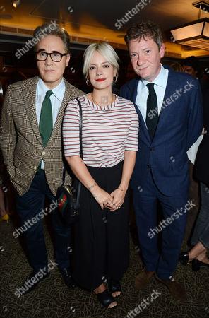 Peter York, Lily Allen and Alex Bilmes