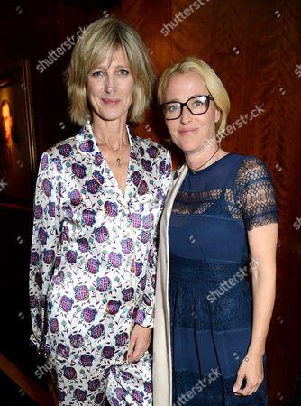 Nicola Formby and Gillian Anderson