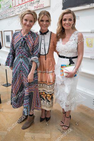 Lara Cazalet, Emilia Fox and Katherine Jenkins