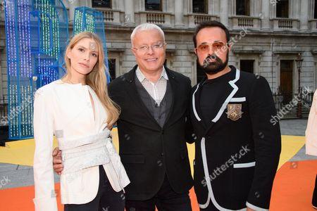Alexander Lebedev with his wife Elena Perminova and son Evgeny Lebedev