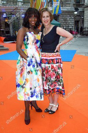 Kirsty Wark and Brenda Emmanus