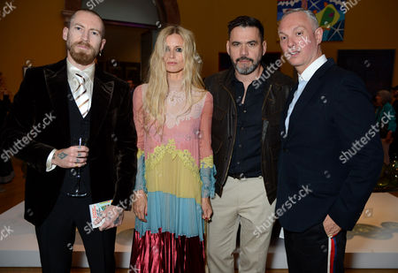 Justin O'Shea, Laura Bailey, Roland Mouret and Josh Wood