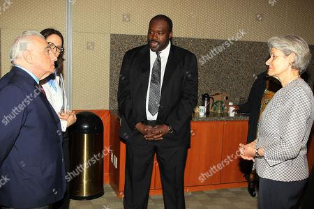 Stock Picture of Martin Scorsese, Margaret Bodde, Aboubakar Sanogo and Irina Bokova