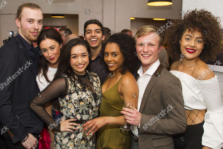 Stock Photo of Huon Mackley (Ensemble), Siubhan Harrison (Terry Mason), Kerri Norville (Ensemble), Luke Latchman (Ensemble), Nicola Espallardo (Ensemble), Patrick Coulter (Ensemble) and Izuka Hoyle (Ensemble)